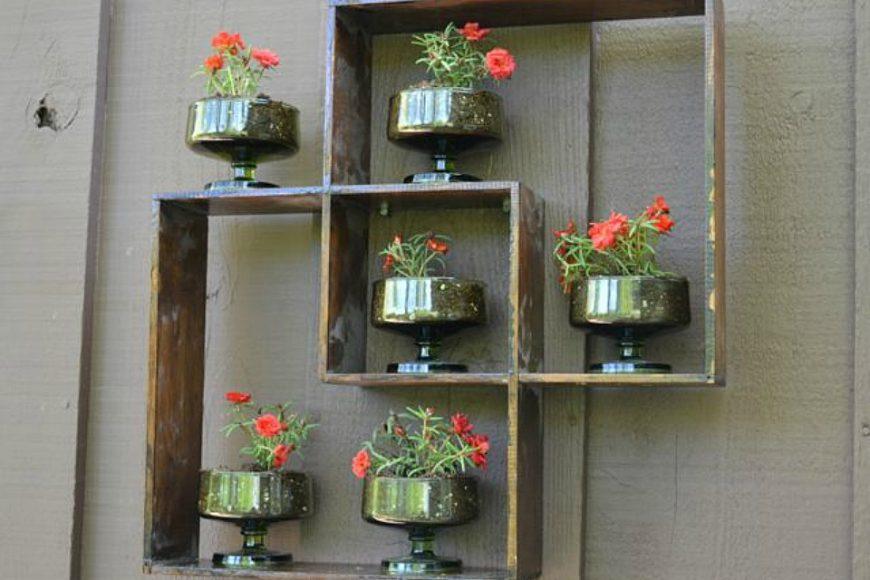 Wall shelf for flowers.