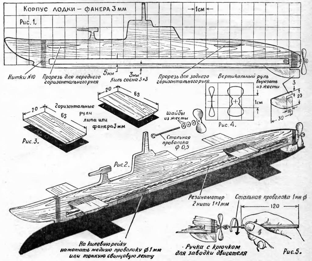 Модели подводных лодок своими руками