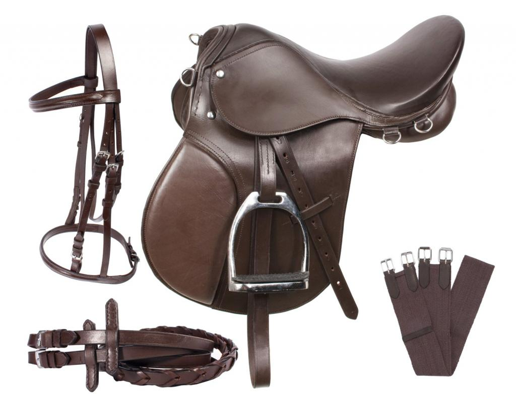 The structure of the saddle for a horse.