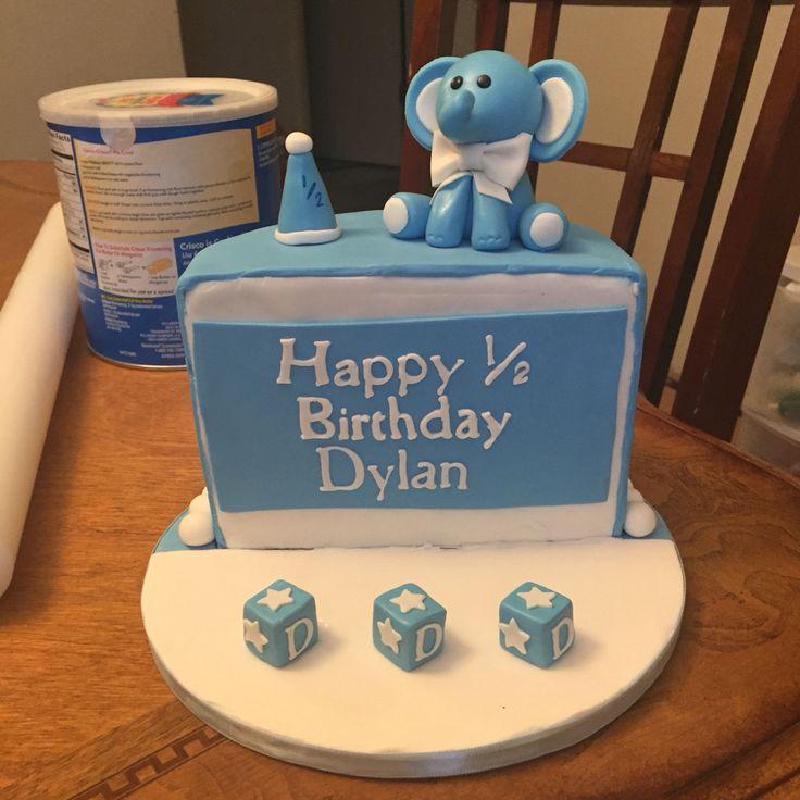 торт на 6 месяцев мальчику фото