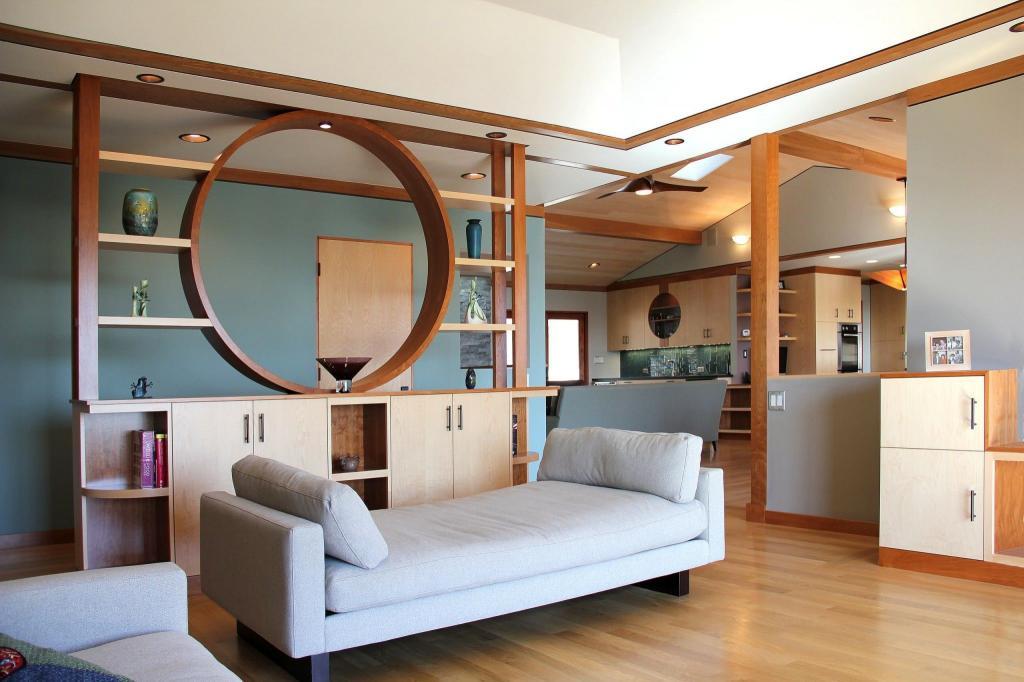 Декоративные перегородки из дерева для зонирования пространства