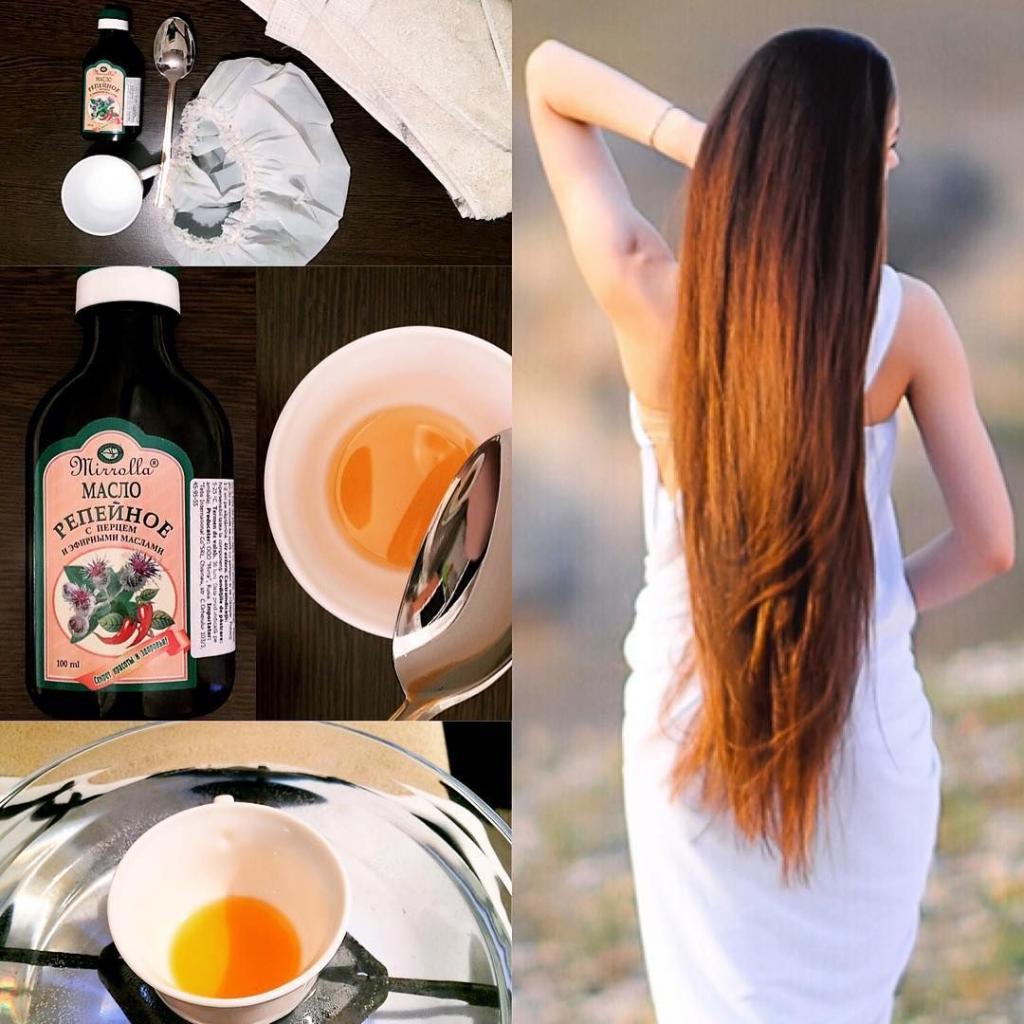 Репейное масло на волосы на ночь: полезные свойства и маски