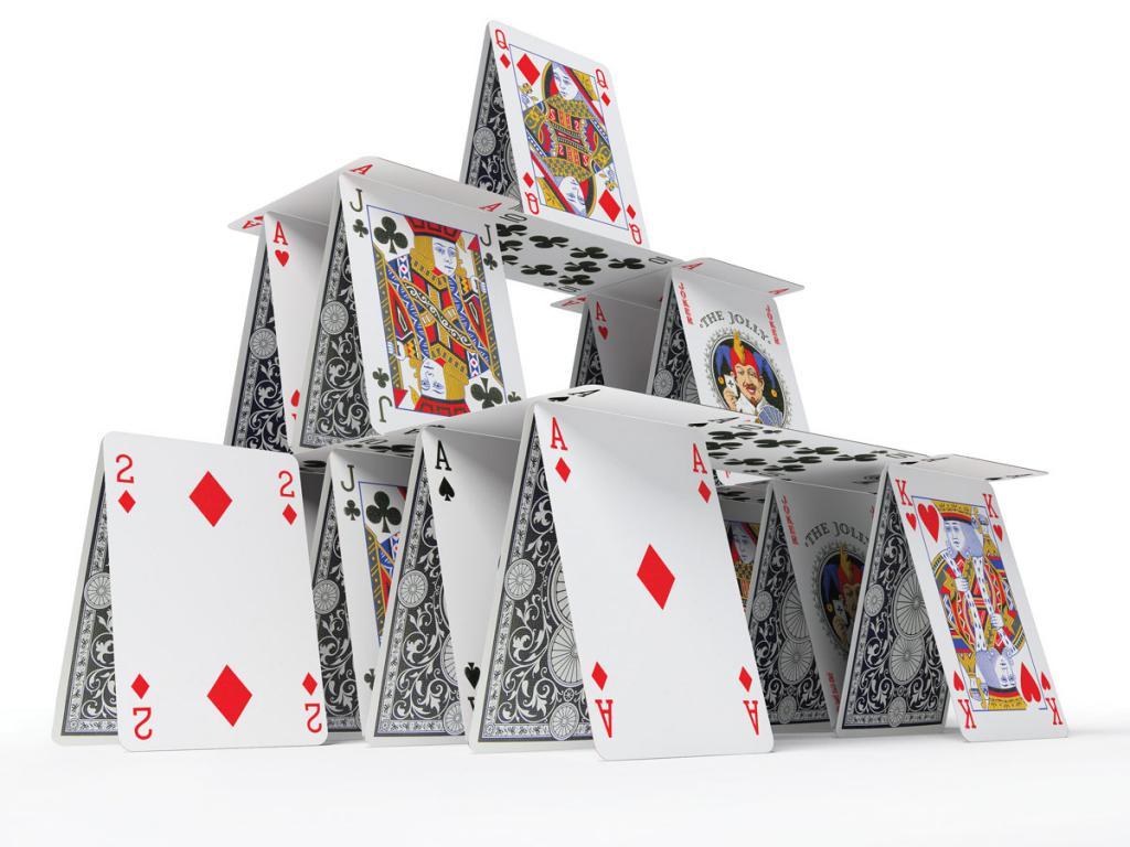 объектом карточный домик как построить фото большого