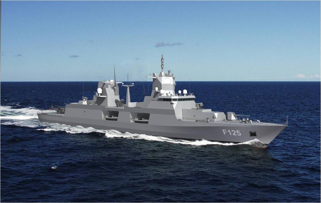 современный фрегат