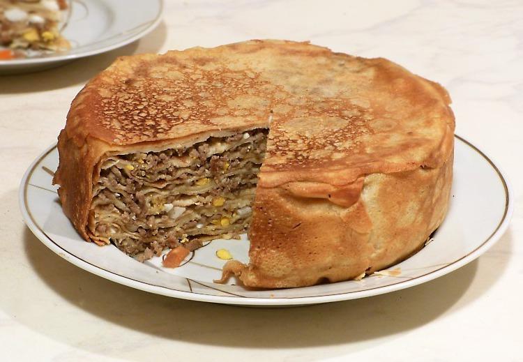 если вас пирог из блинов рецепты с фото картины был впечатлён