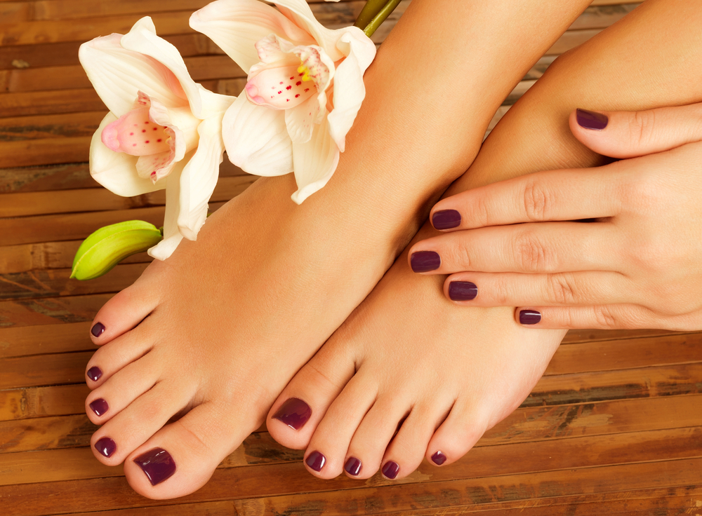 With pedicure