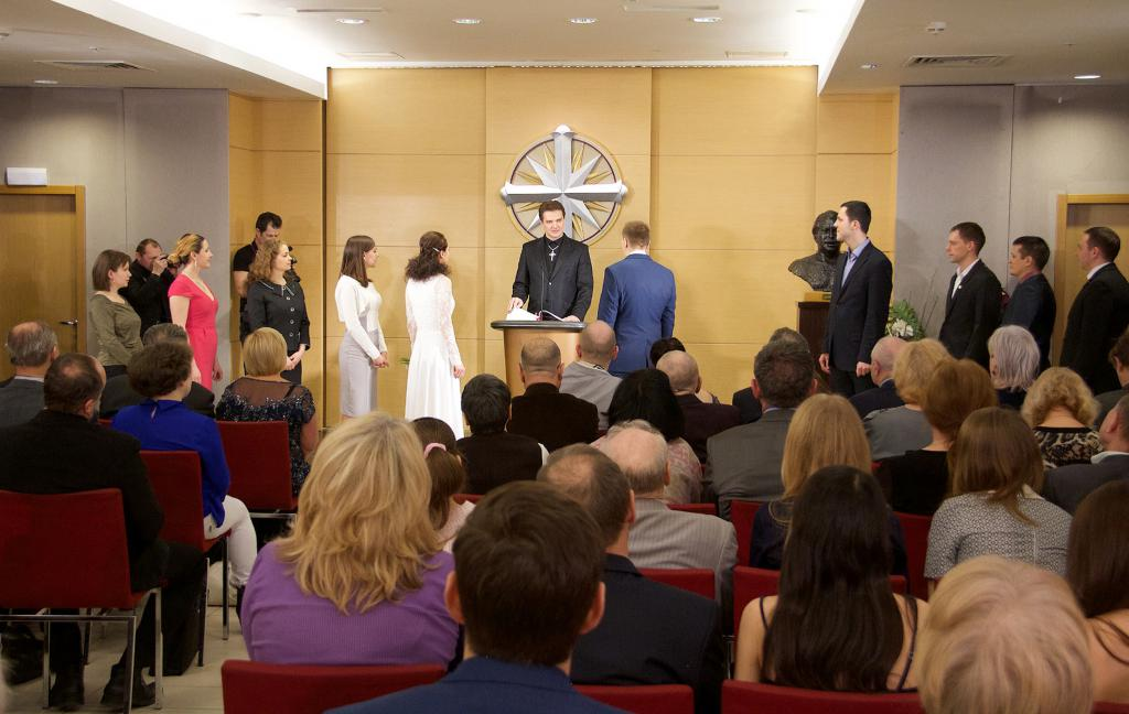 Wedding Ceremony at the Church of Scientology of Moscow
