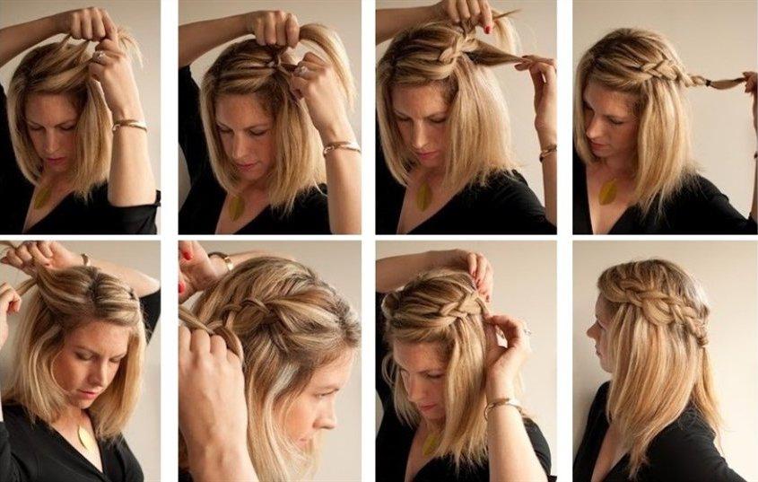 Легкая коса сбоку