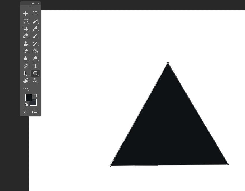 Треугольник через инструмент