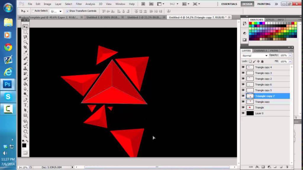 Построение треугольников в