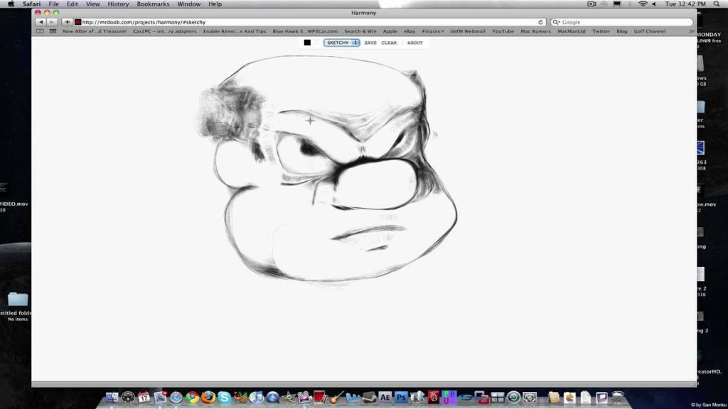 Рисование при помощи мышки