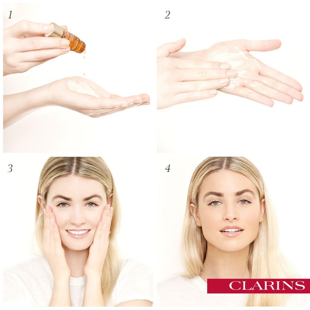 clarins концентрат с эффектом загара для лица
