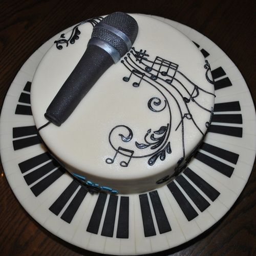 Cake with mastic microphone