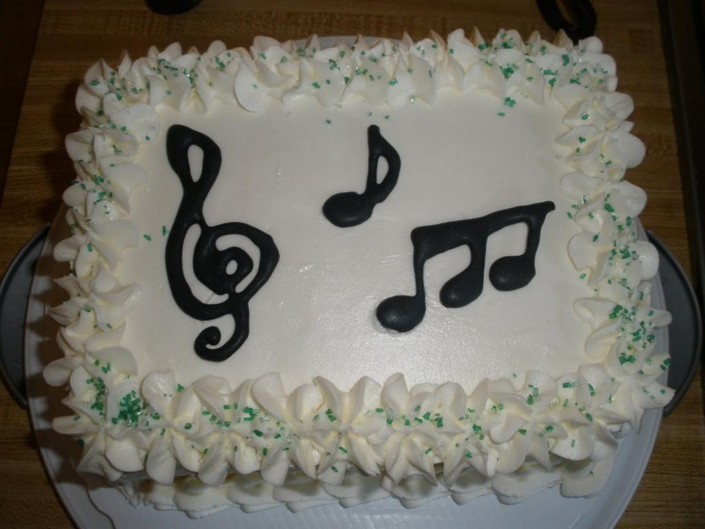 Cake to the musician without mastic