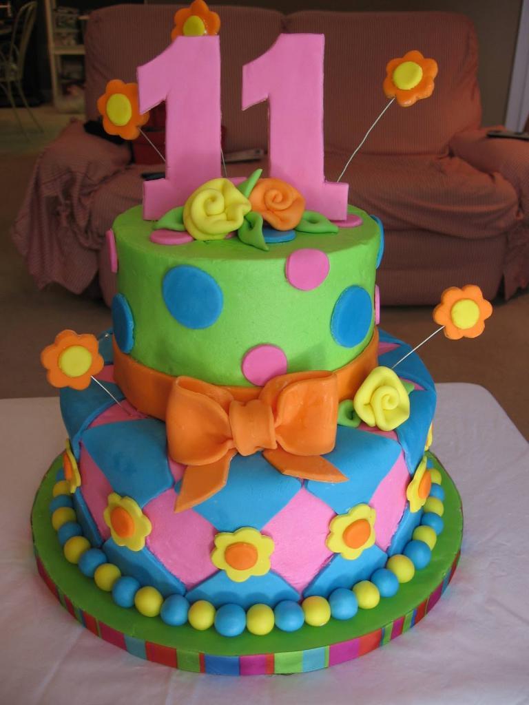Яркий торт с цифрами