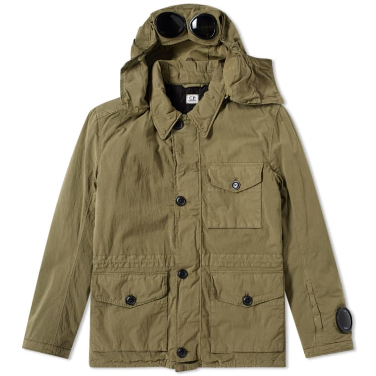 Jacket with glasses