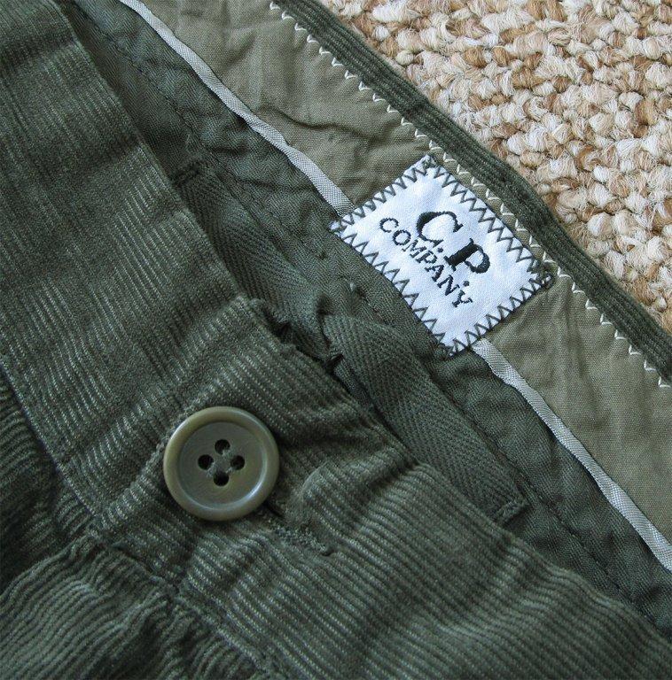 Zigzag seam on original trousers