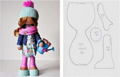 Как сделать куклу большеножку