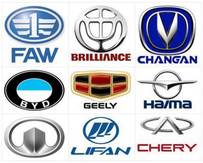 значки марок машин и названия немецкие американские и китайские