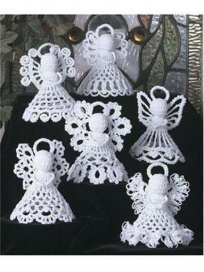 Ангелочки крючком со схемами объемные