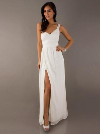 1218ed3a93e Платье с разрезом на ноге - шикарный вариант для дам с красивой фигурой
