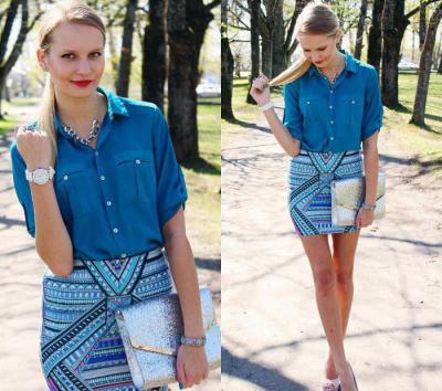 8ce467d0f20 Голубая женская рубашка - незаменимая деталь гардероба