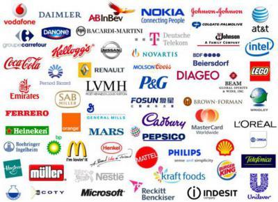 Громкие названия брендов  рейтинг. Популярные бренды и их логотипы 1213f6ea1ff
