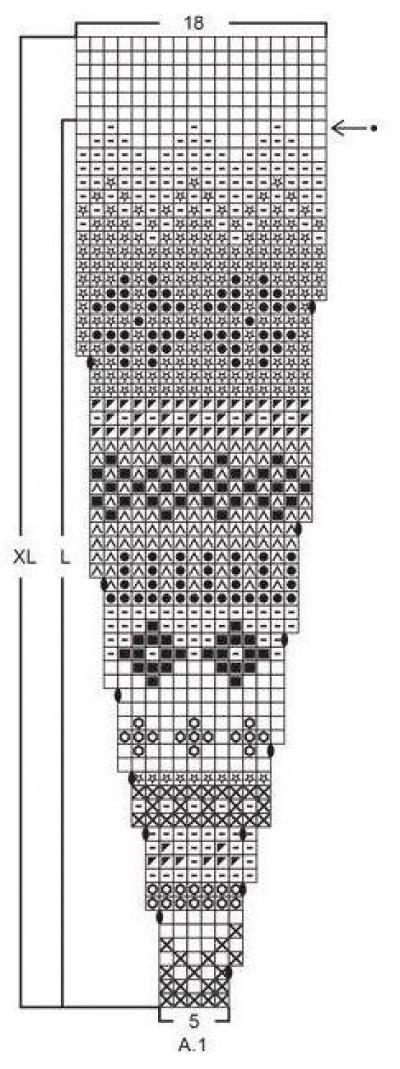 Жаккардовая кокетка спицами схема фото 203