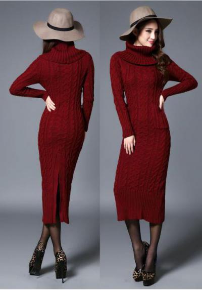 длинное вязаное платье с чем носить интересные идеи и рекомендации