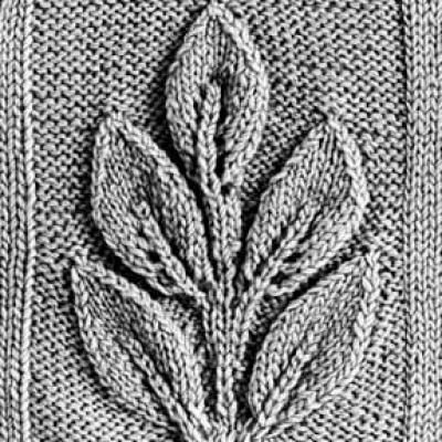орнамент со схемами спицами листья