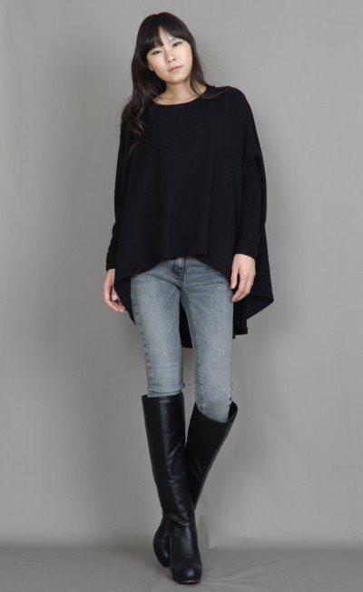 Черная кофта: женская и мужская. С чем носить кофты черного цвета