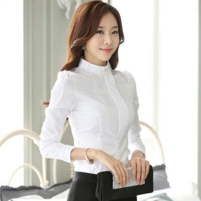 0b2ca0f9b24 Блузка с воротником-стойкой. Модная женская блузка