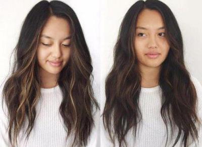 Окрашивание волос блики