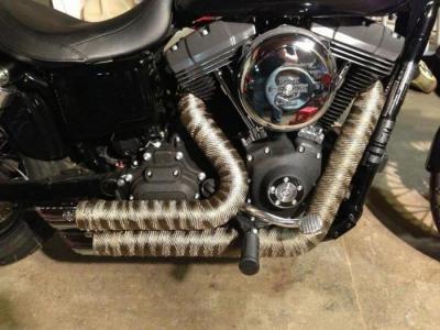 Термолента для глушителей мотоциклов: разновидности и назначение