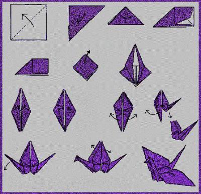 Как сделать журавля из бумаги оригами фото 585