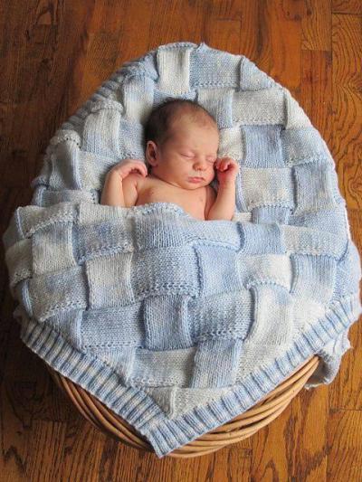 вязаное детское одеяло схемы и описание