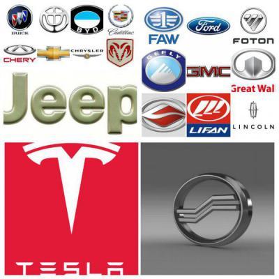 логотипы и названия марок машин