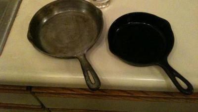 как отмыть сковороду от гари
