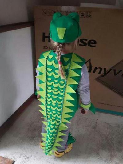 Костюм крокодила своими руками