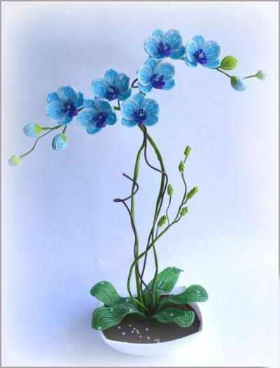 Орхидея из бисера схема плетения 704
