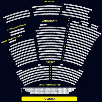 Схема зала натальи сац