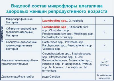 Вагинальные дисбактериоз