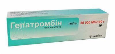 мазь гепатромбин г инструкция по применению отзывы