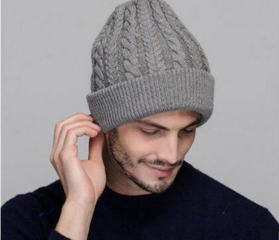 вязание мужских шапок спицами с описанием