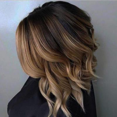 Омбре на русые волосы каскад
