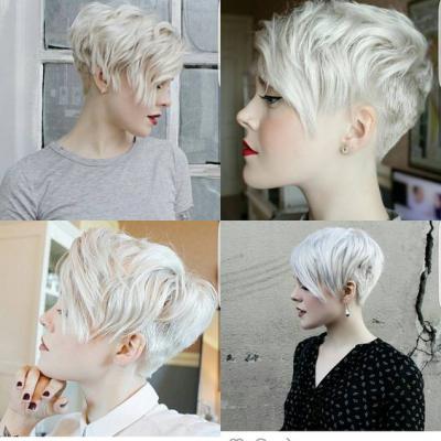 Короткие стрижки женские блондинок