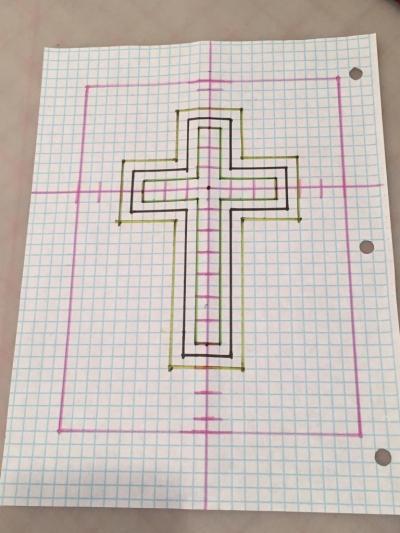 Прикольные картинки по клеточкам крест, открытки день святого
