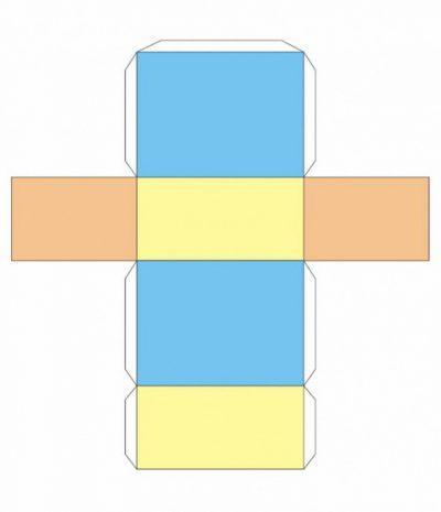 Как сделать параллелепипед из картона фото 991