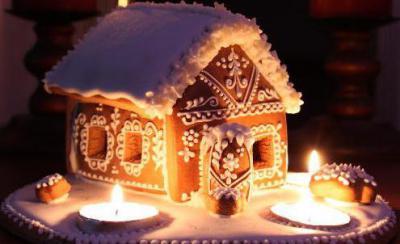 Пряничный домик из соленого теста своими руками фото 644