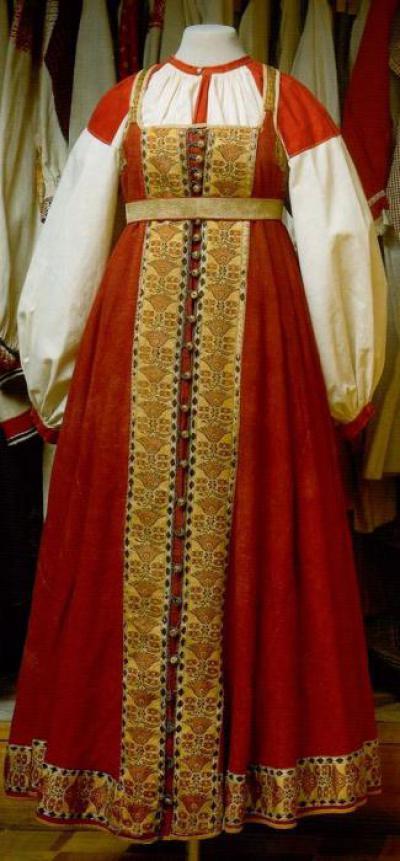 Как нарисовать русский народный костюм поэтапно b198793e31945